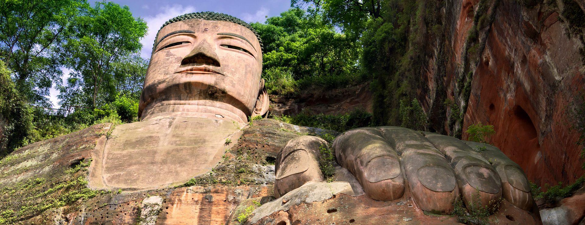 Stora buddhan i Leshan