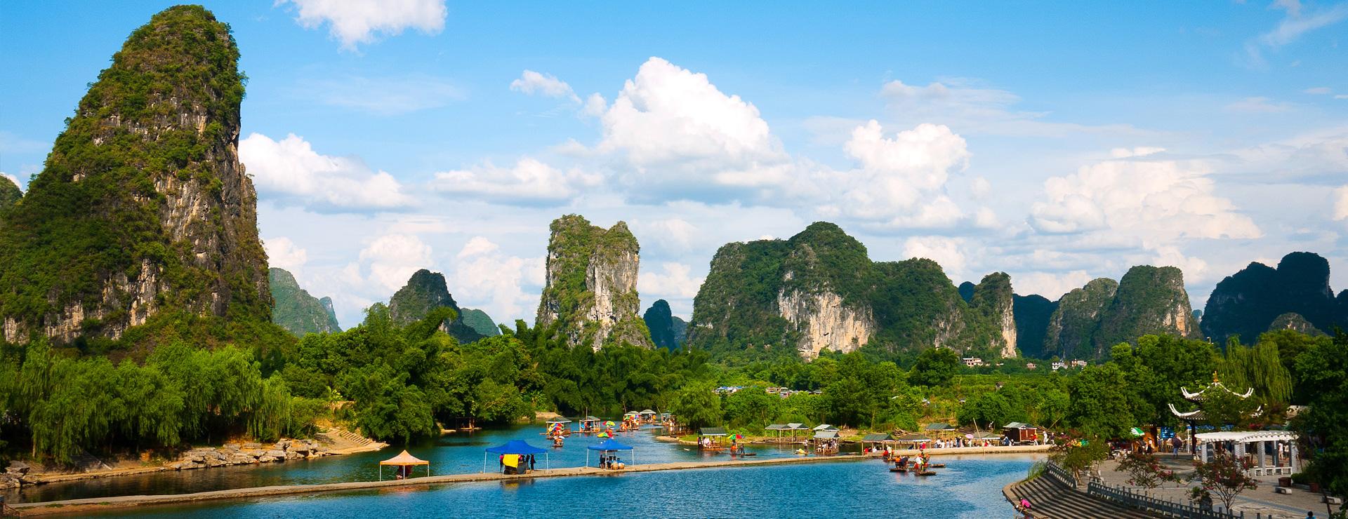 Sockertoppsbergen i Guilin